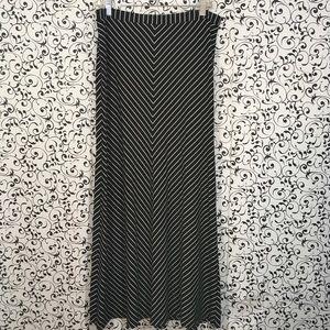 Ann Taylor Black and White Maxi Skirt